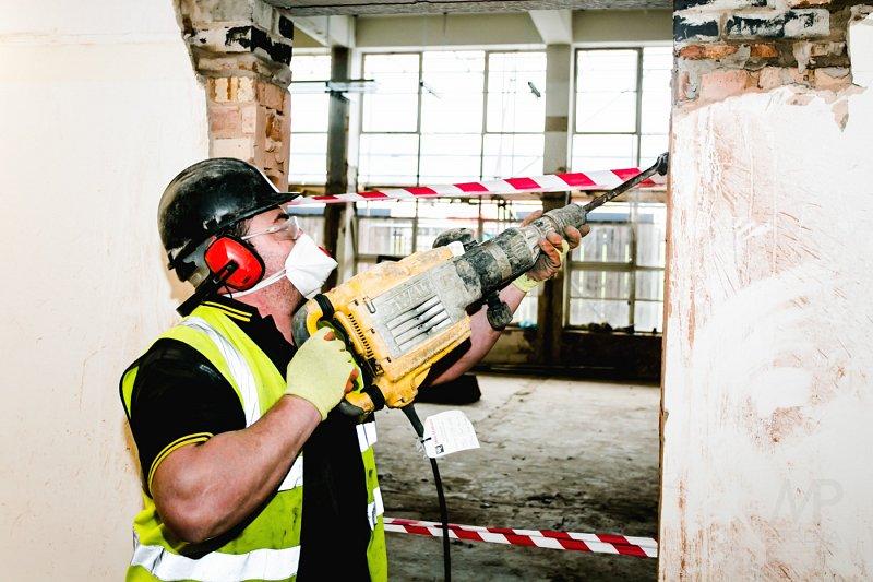 Demolition Worker on Site