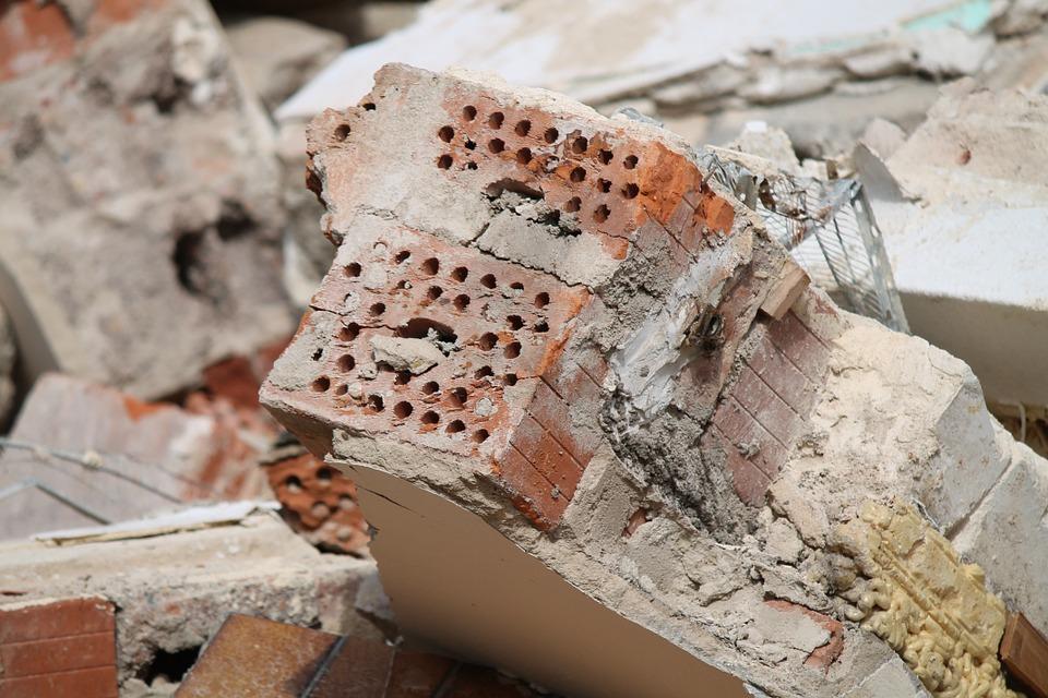 Bricks on a Demolition Site