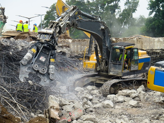What happens to the building materials during demolition